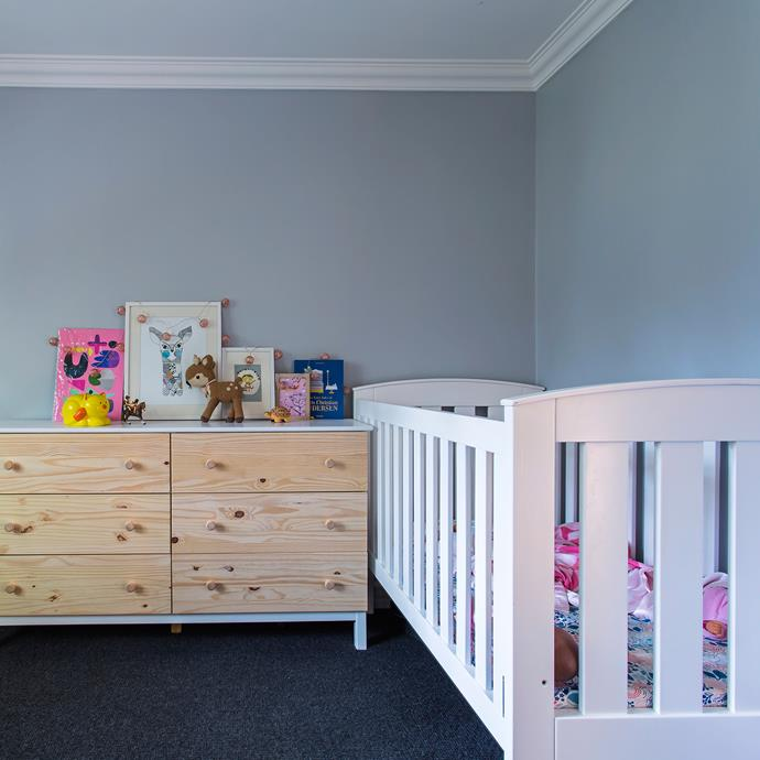 Kids' bedrooms can be kept clutter-free with built-ins and a large chest of drawers.