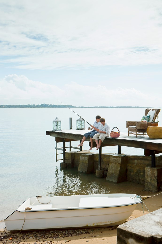The restored jetty provided inspiration for the ModWood decking used throughout the house.