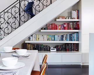 Under stair bookcase