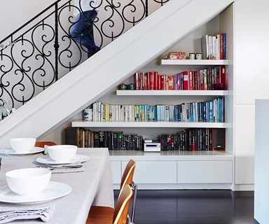 How to style an awkward space under the stairs