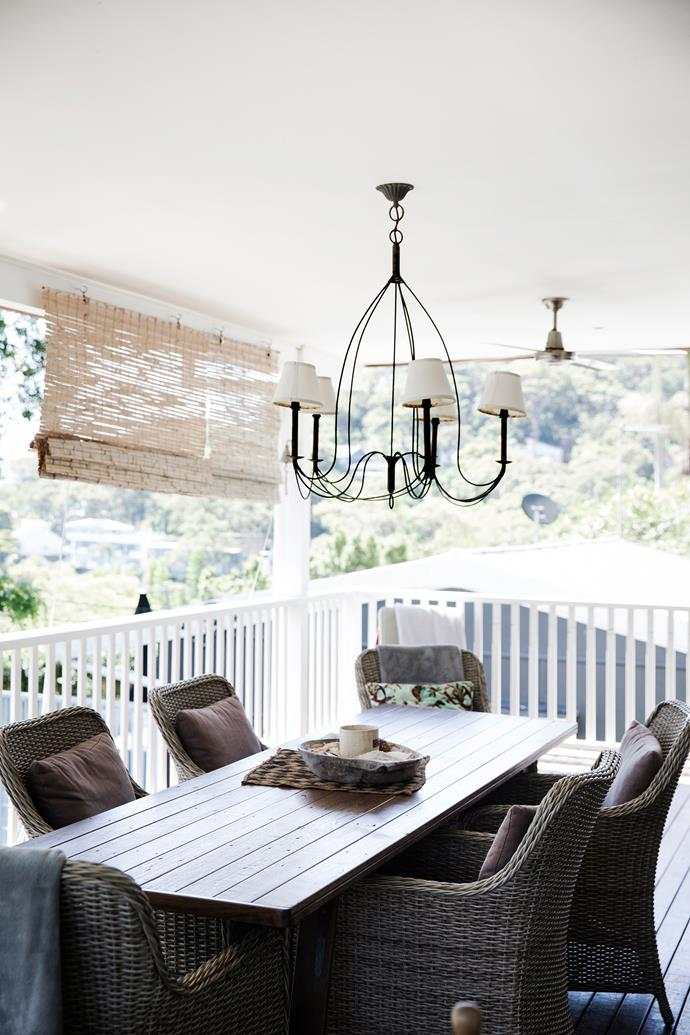 """Excess tallowwood from the renovation is now an outdoor table for the [deck](http://www.homestolove.com.au/how-to-care-for-your-deck-3270