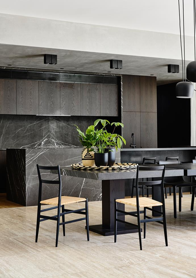 Like the rest of the home, the kitchen is stunning but doesn't draw unnecessary attention to itself.