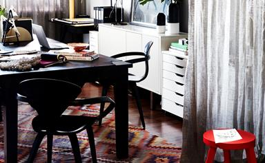 An interior designer's personality-filled office