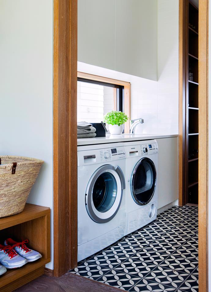 """In the [laundry](http://www.homestolove.com.au/how-to-make-a-small-laundry-room-functional-3199