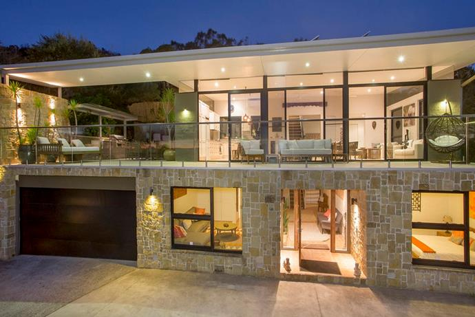 The contemporary residence was designed by architect John Cochran.