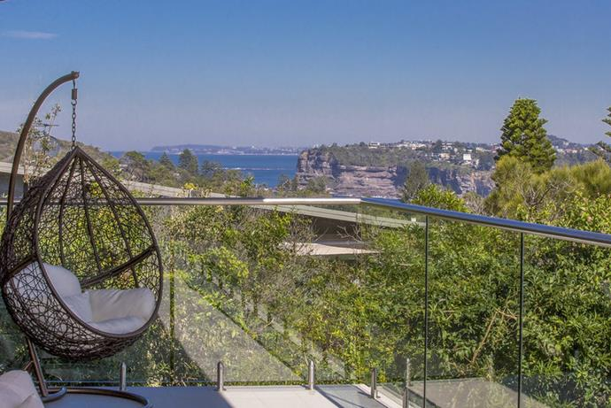 The elevated position offers views of the Northern Beaches coastline.
