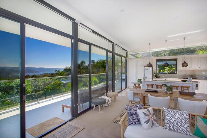 In keeping with the location, the interiors have a laidback coastal vibe.