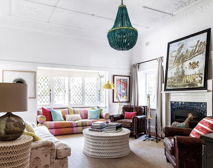 """We found the light in LA and loved the colour,"" says the owner."