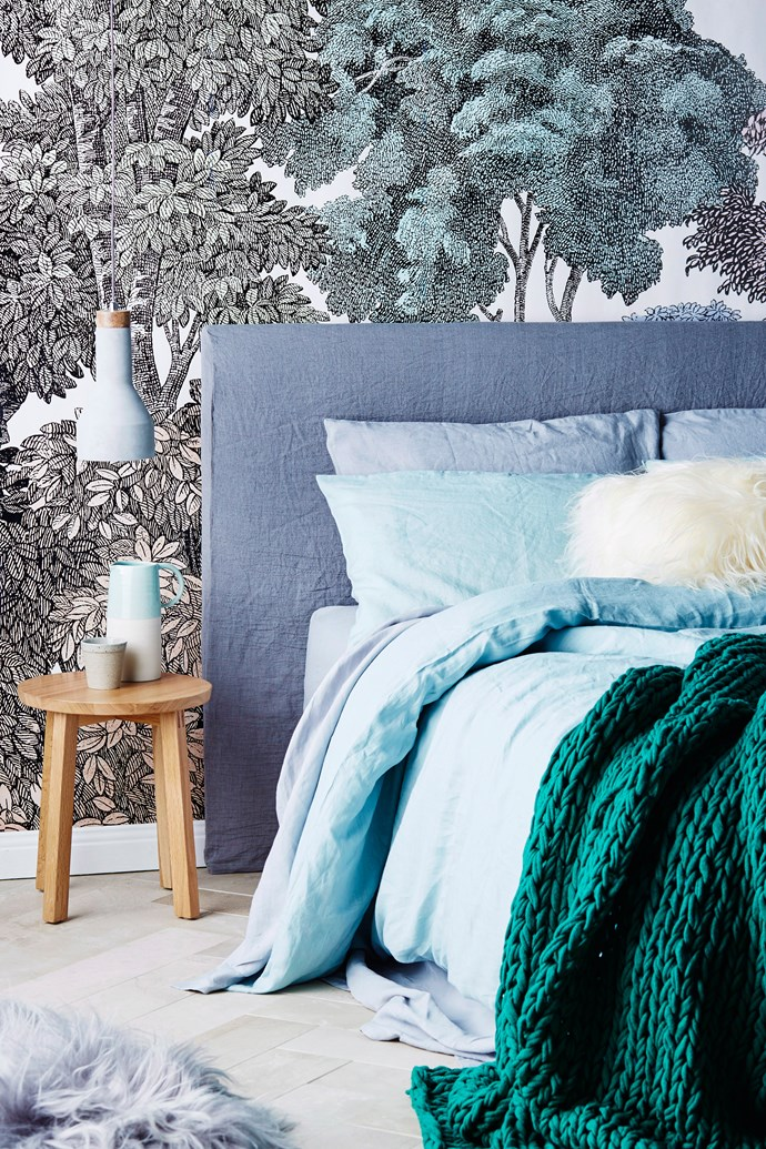 **Create a feature wall.** One of the easiest ways to add a wow factor to any room is to turn a regular wall into a feature wall. To create the most impact, select a wall that's clearly visible. Pick wallpaper with a prominent print if you want to make a daring, dramatic statement or stick with a bright paint if you're more into contemporary colour-blocking.  Photo: Brett Stevens / Bauersyndication