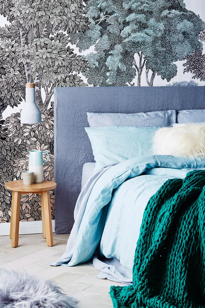 "**Create a feature wall.** One of the easiest ways to add a wow factor to any room is to turn a regular wall into a [feature wall](https://www.homestolove.com.au/living-room-feature-wall-ideas-5146|target=""_blank""). To create the most impact, select a wall that's clearly visible. Pick [wallpaper](https://www.homestolove.com.au/statement-wallpaper-designs-5696