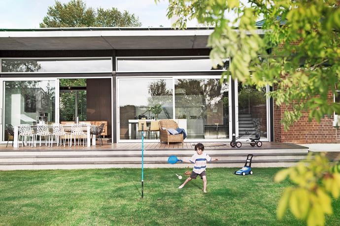 "The light-filled rear extension is crucial to the way the Dreosti family lives. ""It's a big, open space with beautiful natural light and it just makes us feel good,"" says Annabel Dreosti. Her husband Mario, an architect, designed the extension as an intrinsic linking element that merges old and new."