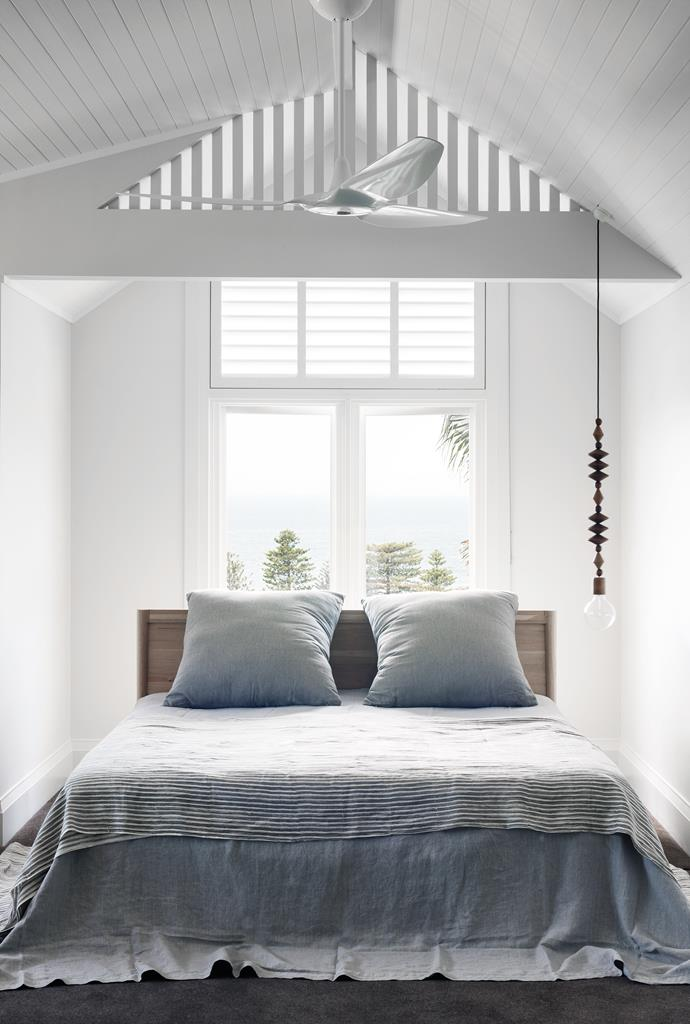 """In the massive amount of roof space we put the main bedroom and walk-in robe, ensuite, study, a nursery and store room. And new dormer windows deliver stunning views over the peninsula,"" says the homeowner."