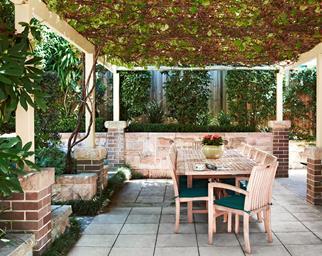 shaded patio