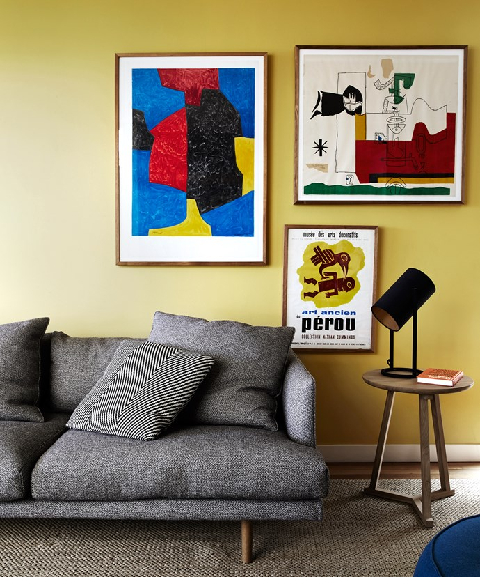 """""""Good design and art makes for a happy home,"""" Stephanie says. Artworks from Sam's store [Vintage Posters Only](http://vintagepostersonly.com/?utm_campaign=supplier/