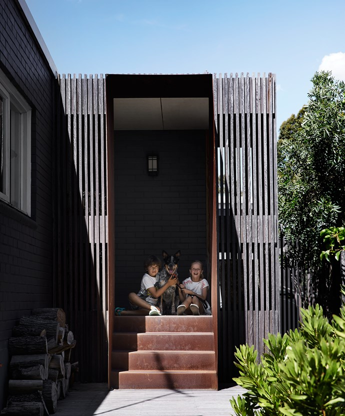 The home's entrance, along with the front garden, was completely remodelled.