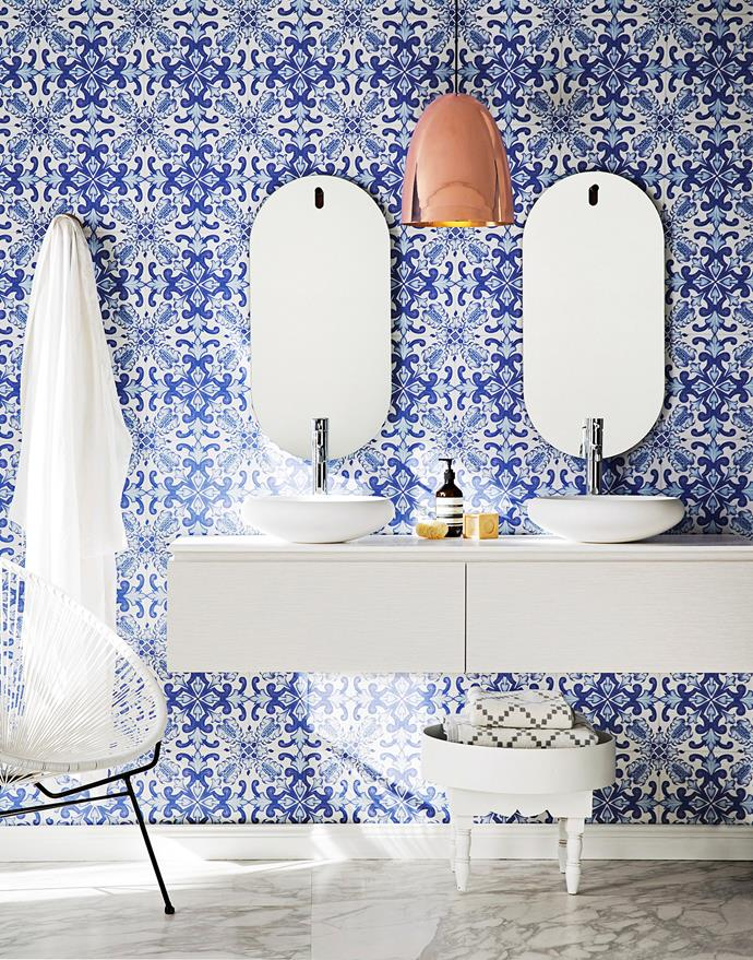 Graphic patterns and bright colours can bring a room to life. Photo: Chris Warnes / bauersyndication.com.au.