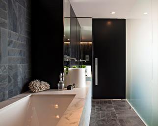 Charcoal stone tiles
