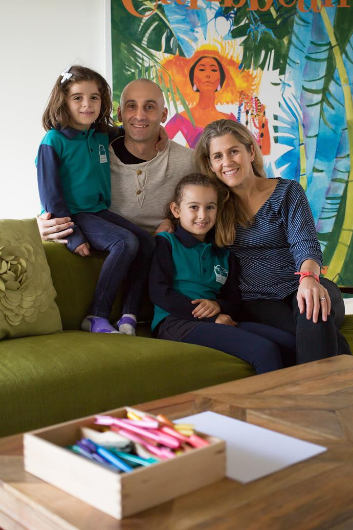 Meet the family: Jacqi, her husband Adam, and their two girls, Sadie and Audrey.