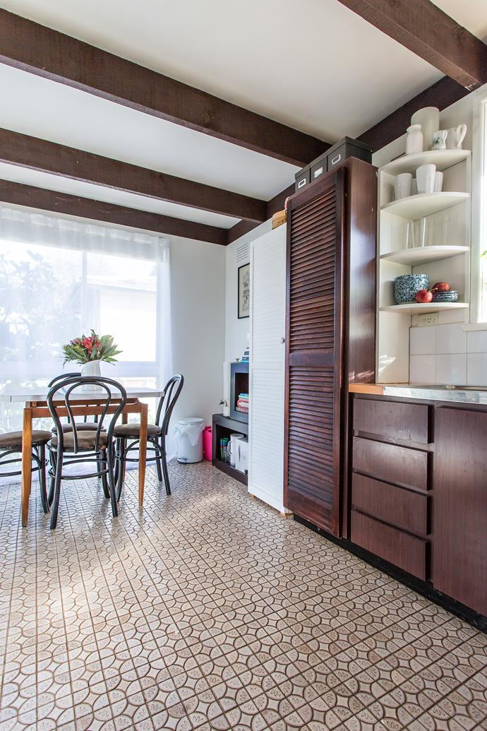 """The kitchen was in working order for the family's short stay, but there was the issue of [storage](http://www.homestolove.com.au/three-storage-hacks-for-small-kitchens-3175