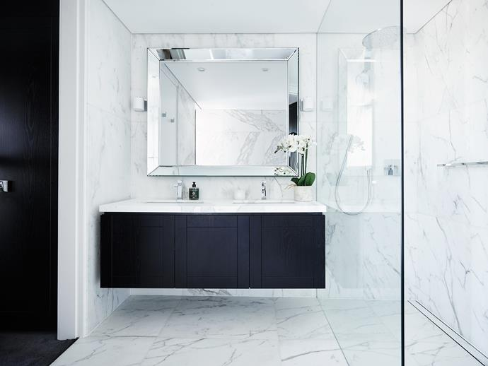 "**Bathroom storage:** Storage can make or break a bathroom especially if your bathroom is on the smaller side. To make the most of the space, opt for a generously sized vanity to stash everything you need. A floating construction will also serve to visually enhance the feeling of space in a [small bathroom](http://www.homestolove.com.au/how-to-renovate-a-small-bathroom-3744 ""). Interior design by Greg Natale. Photography by Anson Smart. *Interior design by [Greg Natale](http://www.gregnatale.com/