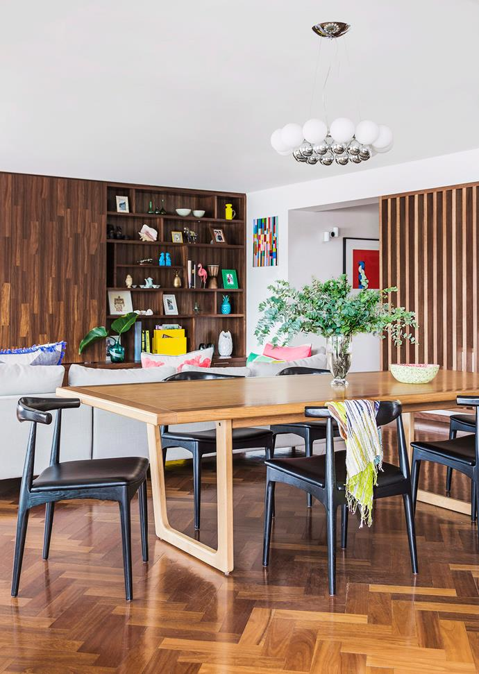 A timber baton screen wall works particularly well with mid-century or Scandi-style interiors. Photo: bauersyndication.com.au