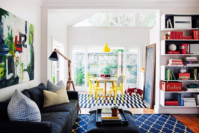 Rug up: use large floor rugs to zone living areas. Photo: bauersyndication.com.au
