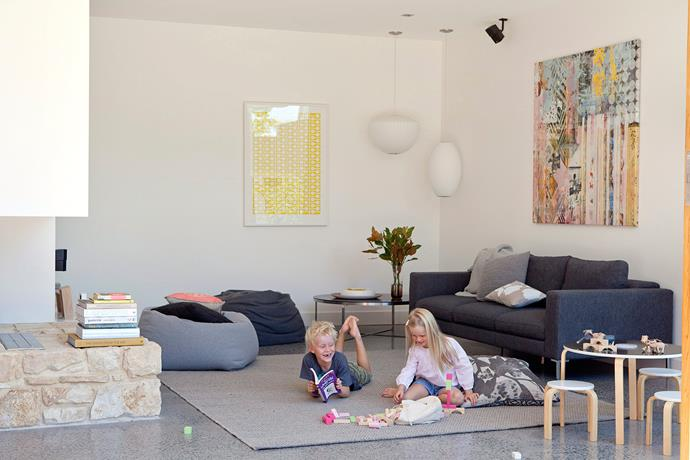 Two for one: a media room can double as a play space for young children. Photo: bauersyndication.com.au
