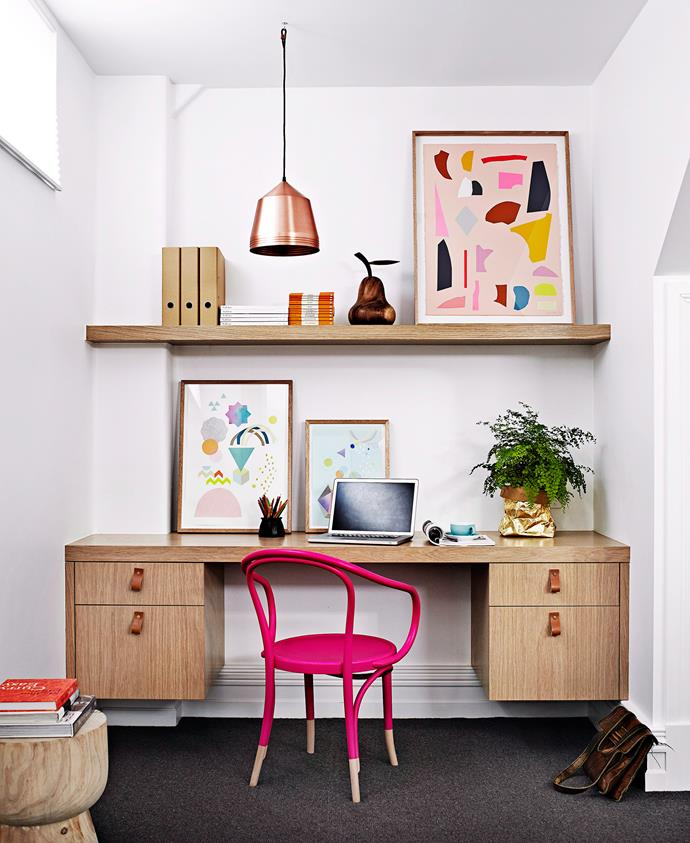 Built-in beauty: install a desk and shelves for a smart study nook. Photo: bauersyndication.com.au