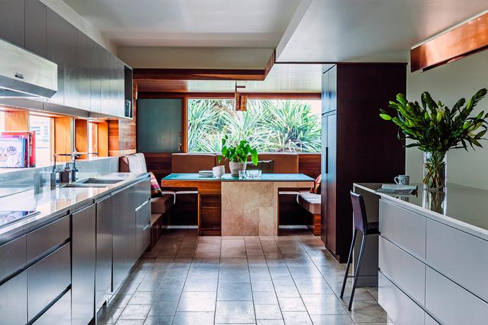 """""""I wanted a very large kitchen that we could get into and out of easily, with no dead ends,"""" says Kimberley."""
