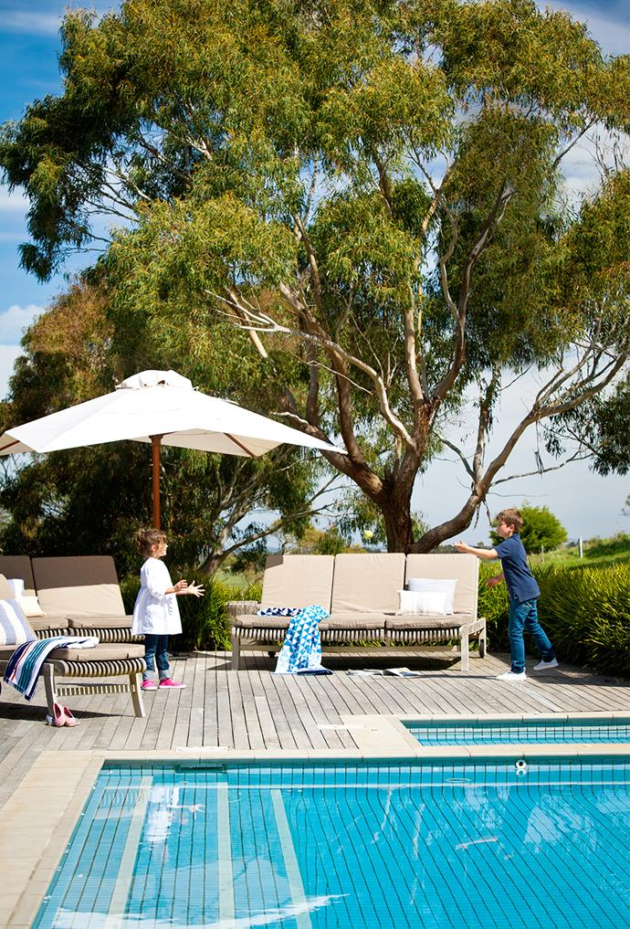 "This pool area is part of the Highfields garden at Romsey, in country Victoria. ""It's a quintessential Australian scene, so I didn't want to go closing the pool area in with structures and shelters or creating a French-inspired garden around it,"" says landscape designer [Rick Eckersley](http://e-ga.com.au/