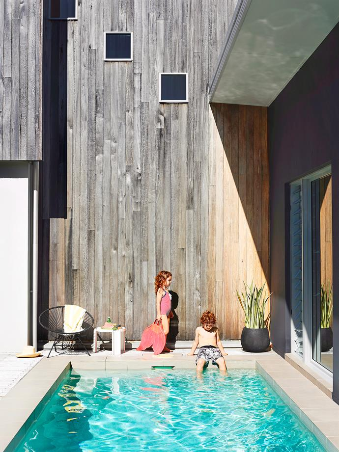 "The central element of a new build on Queensland's Sunshine Coast, this pool is snugly wrapped by three wings of the house and a glazed hallway. ""It can be viewed from many vantage points within the house – and it's a lovely calming outlook,"" says building designer Michael Broeren of [M Design](http://www.m-designs.com.au/
