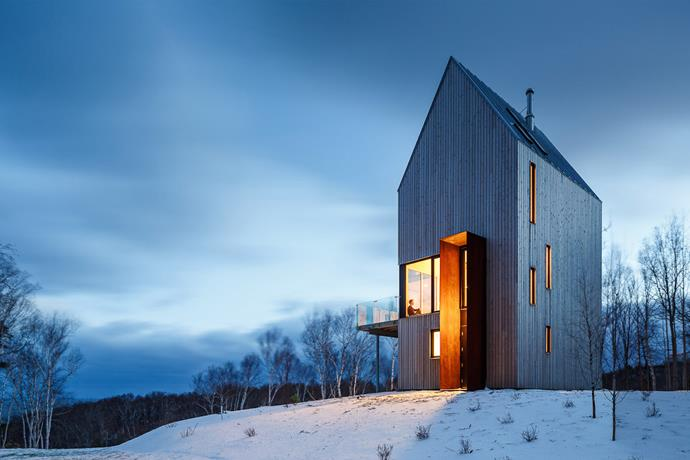This cabin takes its name from Rabbit Snare Gorge, which is located on the remote island of Cape Breton in the farthest north-east corner of Canada. *Photo: Doublespace*