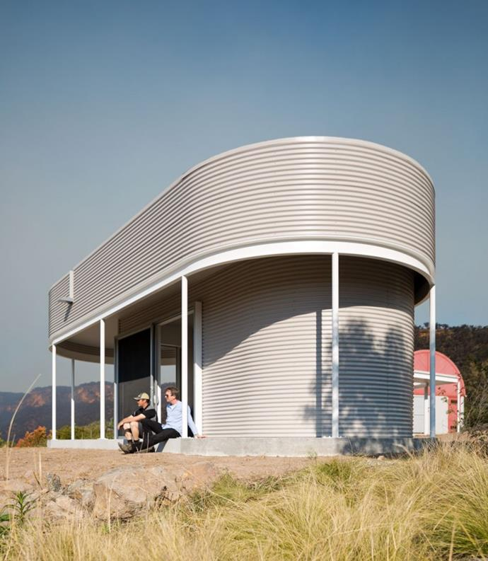 This curvaceous cabin was created as a reading room that adjoins a weekender in the NSW Southern Highlands. *Photo: Tom Ferguson*