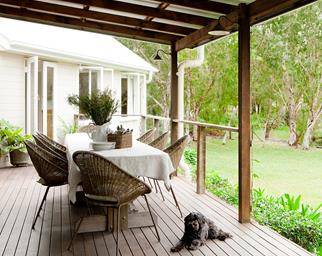 country style outdoor setting