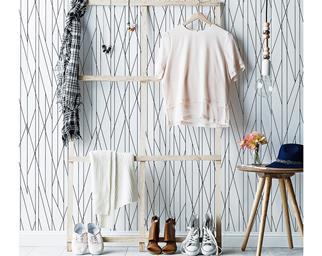 timber clothes rack