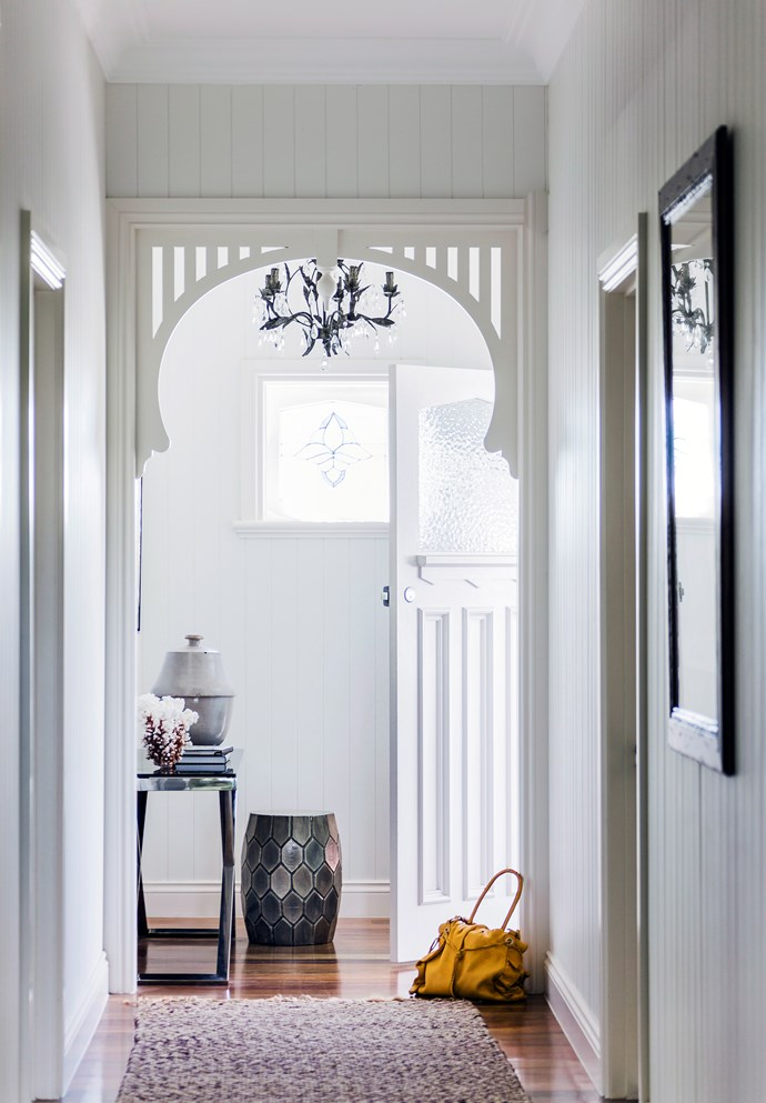 The hallway should appear as spacious as possible.