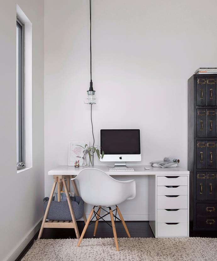 Combine a set of drawers with a trestle that has an adjustable height. Photo: bauersyndication.com.au