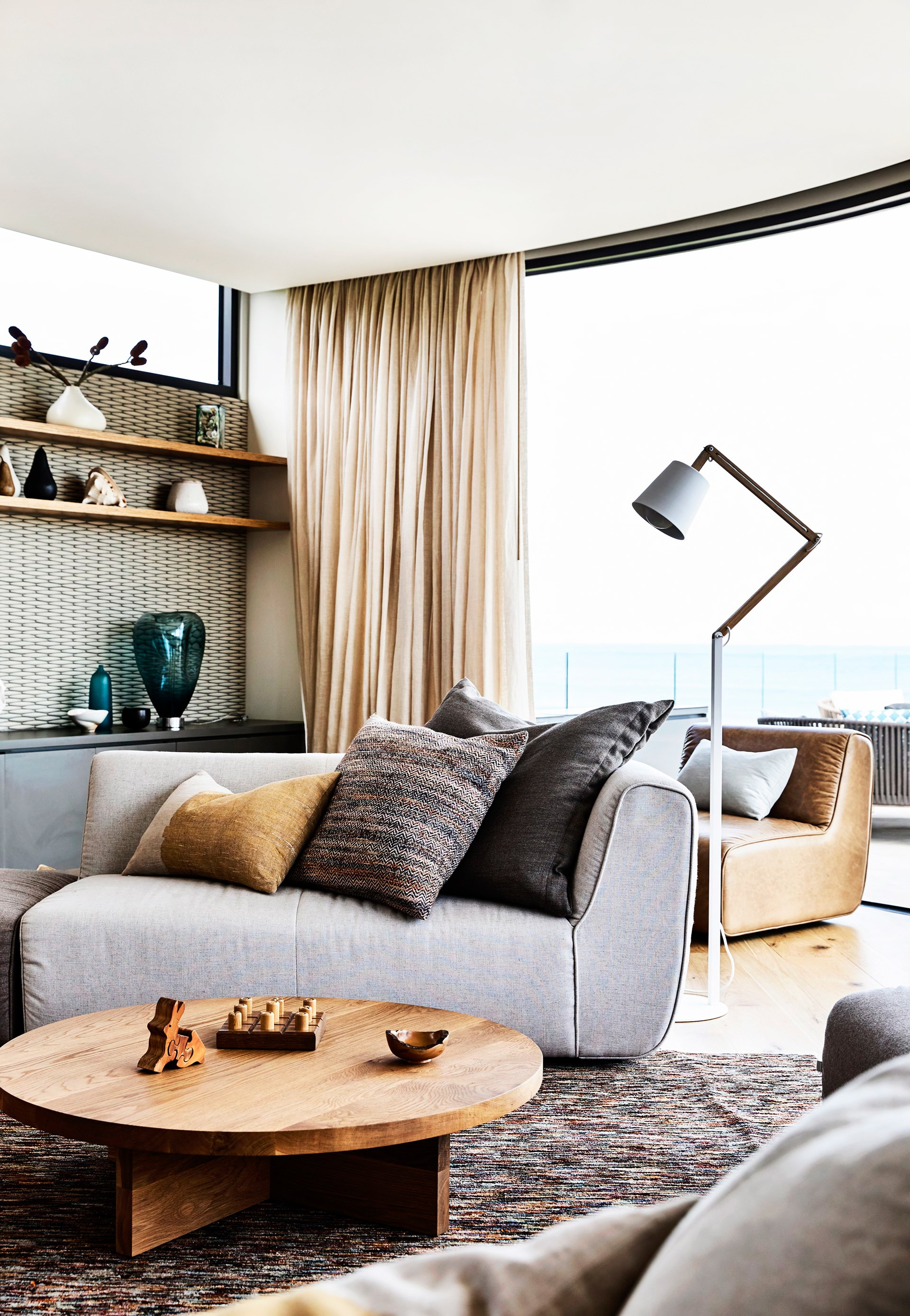 With a sprawling view over the Bass Strait, it would be hard not to relax in this [Great Ocean Road retreat](http://www.homestolove.com.au/a-great-ocean-road-getaway-inspired-by-nature-3863). Neutral tones and soft textures and nature-inspired finishes only add to the comfort. Photo: Derek Swalwell / Australian House & Garden