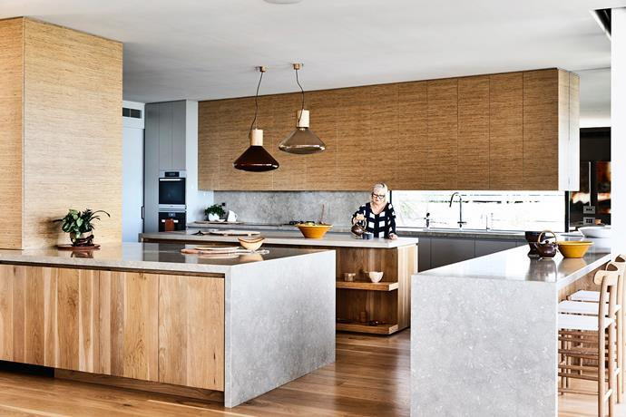 In the sea-facing front of the house, the American oak has a matt finish to give it a driftwood effect.