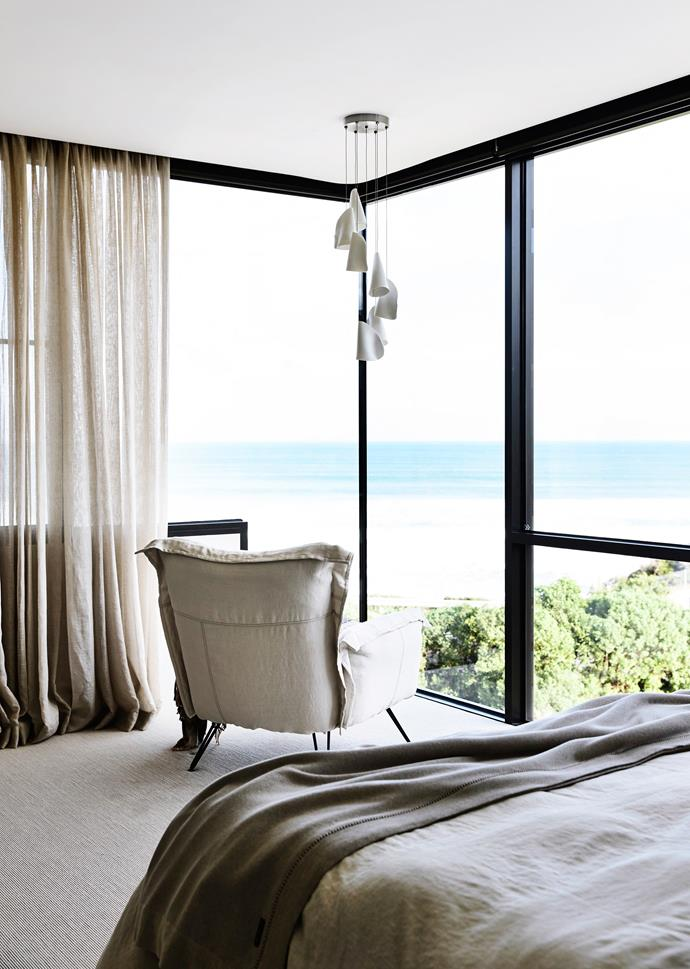 """""""You have beautiful views, but you still have privacy,"""" says Fiona. """"I especially love the main bedroom with its front balcony. When you stand on it, it feels like you can touch the ocean. It's magical."""""""