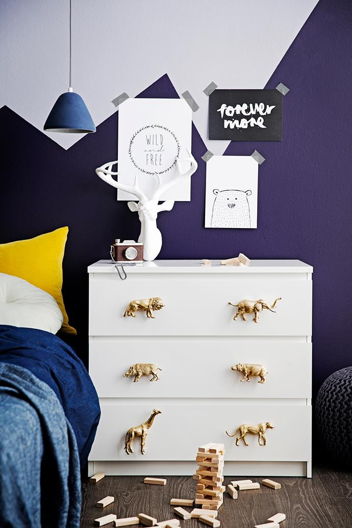"""Whether you're looking to jazz up your kids room, or just an adult who loves animals, this [animal drawer handles DIY](http://www.homestolove.com.au/how-to-make-animal-drawer-handles-3417