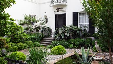 An elegant yet eclectic garden in South Yarra
