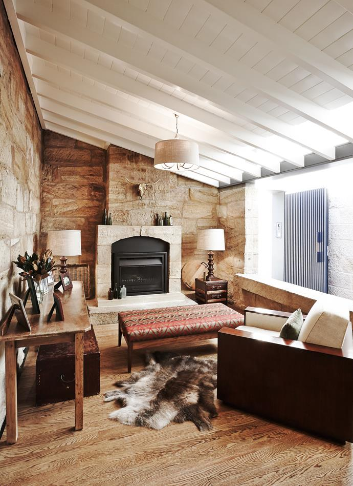 """I really wanted a lived-in space and that it be a home not a house. We loved that earthy, warm Colorado ranch style and all those layered textures,"""" says Andrea."""
