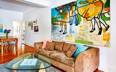 A playful home bursting with colour