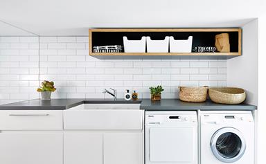 Before and after: stylish and practical laundry renovation