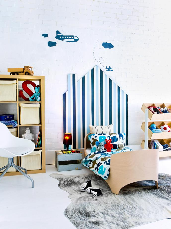 Paint a simple backdrop for the bed and finish with wall stickers. Photo: bauersyndication.com.au