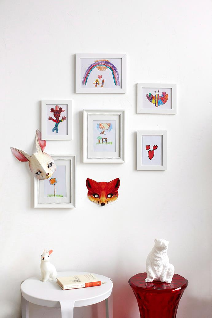 Devote a wall to hanging drawings and just-finished paintings. Photo: bauersyndication.com.au