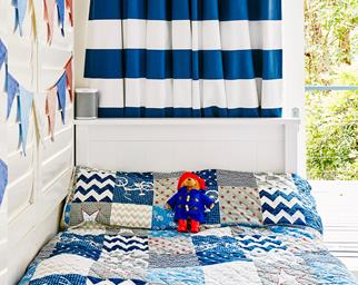 blue-themed kids room