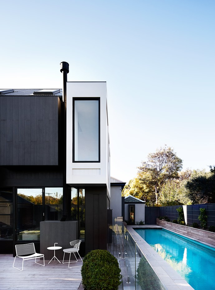The extension is a series of boxes with openings for light and views.