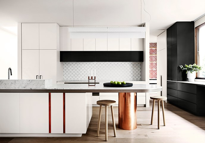 """[Fiona Lynch](http://fionalynch.com.au/ target=""""_blank"""") kitchen. From *Belle* April 2014. *Photograph by Sharyn Cairns.*"""